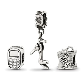 Reflection Beads Sterling Silver Stylish Girl Boxed Bead Set