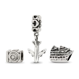 Reflection Beads Sterling Silver Travel Bug Boxed Bead Set