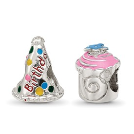 Reflection Beads Sterling Silver Happy Birthday Boxed Bead Set