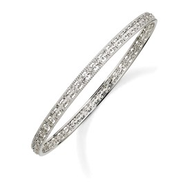 Stackable Expressions Sterling Silver Carved Slip-on Bangle Bracelet