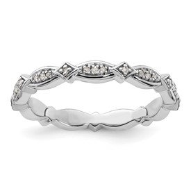 Stackable Expressions Sterling Silver Diamond Ring