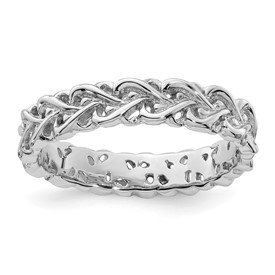 Stackable Expressions Sterling Silver Polished Intertwined Heart Ring