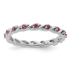 ce6e3945a732f Stackable Expressions Sterling Silver Rhodolite Garnet Ring ...