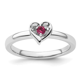 Stackable Expressions Sterling Silver Created Ruby Ring