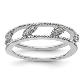Stackable Expressions Sterling Silver Gold-plated Diamond Jacket Ring