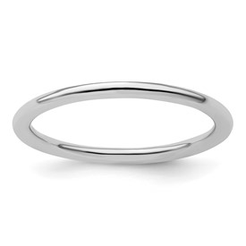 Stackable Expressions Sterling Silver Rhodium Polished Ring