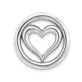 Stackable Sterling Silver Heart Chain Slide