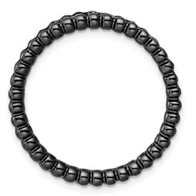 Sterling Silver Stackable Expressions Black-plated Large Chain Slide