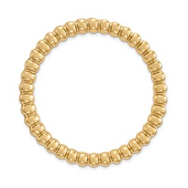 Sterling Silver Stackable Expressions Gold-tone Large Chain Slide