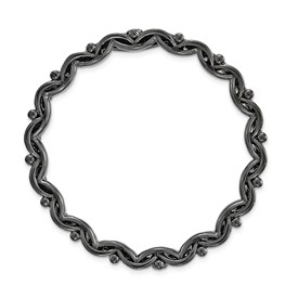Sterling Silver Stackable Expressions Blk-plated Large Polished Chain Slide