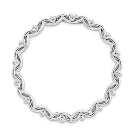Sterling Silver Stackable Expressions Large Polished Chain Slide