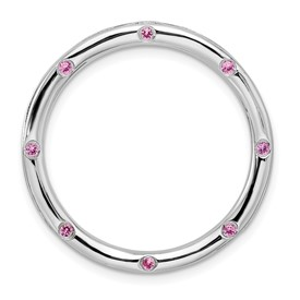 Sterling Silver Stackable Expressions Large Rhodolite Garnet Chain Slide