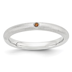 Sterling Silver Stackable Expressions with Red Diamond Ring