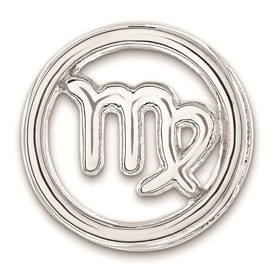 Sterling Silver Stackable Expressions Small Virgo Zodiac Pendant