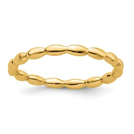 Stackable Expressions Sterling Silver Gold-plated Rice Ring
