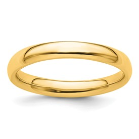 Stackable Expressions Sterling Silver Gold-plated Polished Ring