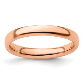 Stackable Expressions Sterling Silver Pink-plated Polished Ring