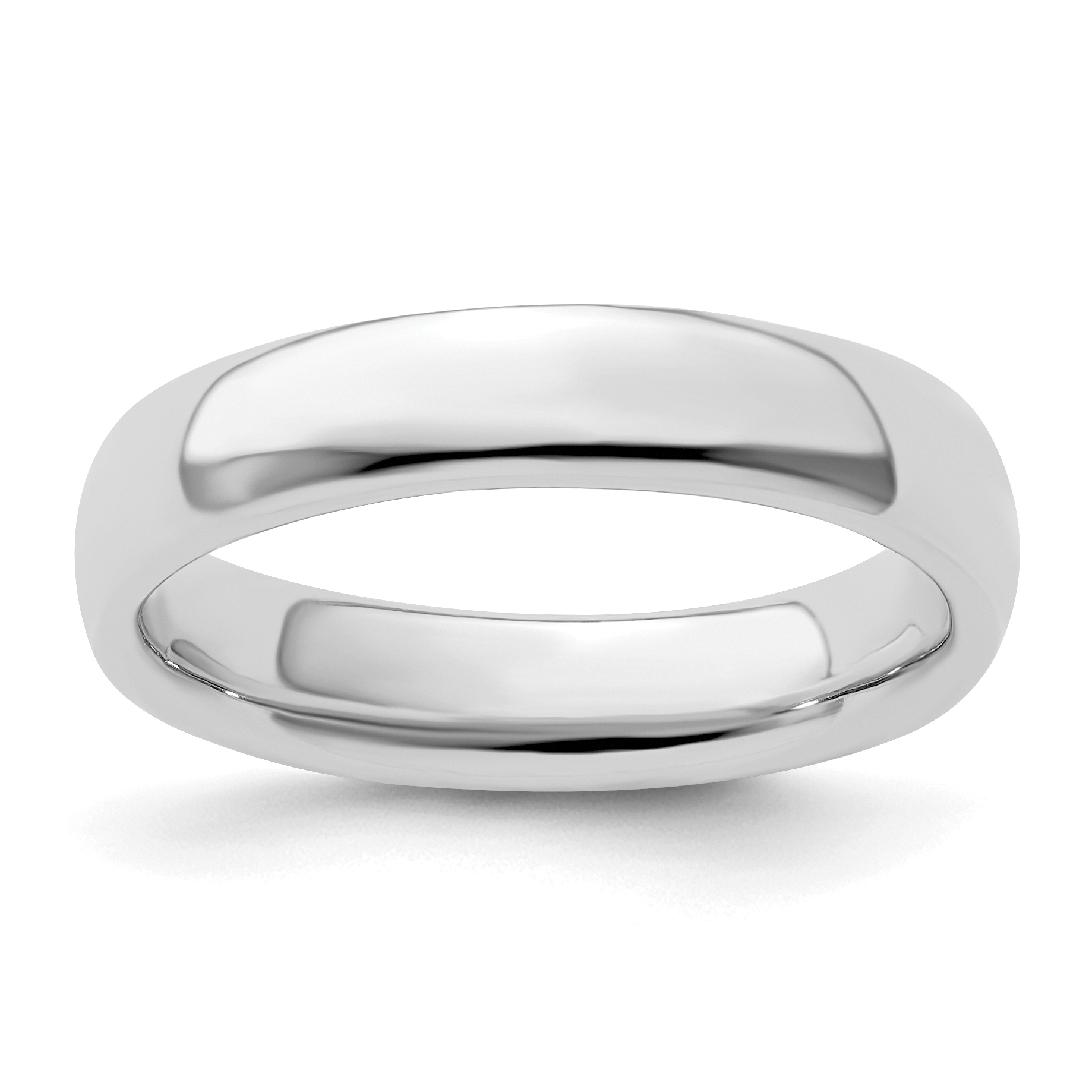 Fashion Jewelry QSK291 Sterling Silver Rhodium Plated 4.50 mm Stackable Ring