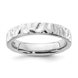 Stackable Expressions Sterling Silver Rhodium Ring