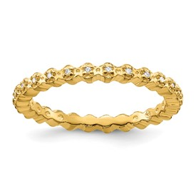 Stackable Expressions Sterling Silver Diamond Gold-plated Ring