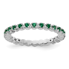 Stackable Expressions Sterling Silver Created Emerald Ring