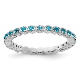 Stackable Expressions Sterling Silver Blue Topaz Ring