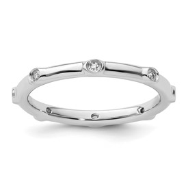 Stackable Expressions Sterling Silver White Topaz Ring