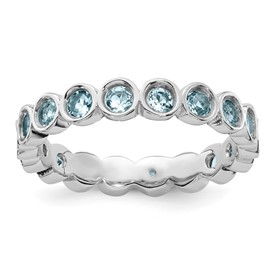 Stackable Expressions Sterling Silver Aquamarine Ring