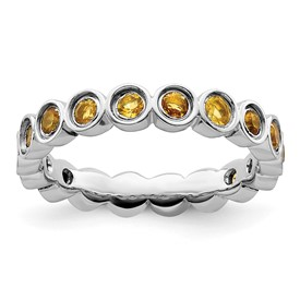 Stackable Expressions Sterling Silver Citrine Ring