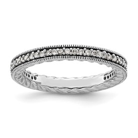 Stackable Expressions Polished Sterling Silver Diamond Ring