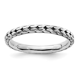 Stackable Expressions Antiqued Sterling Silver Ring