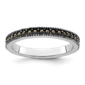 Stackable Expressions Sterling Silver Marcasite Band