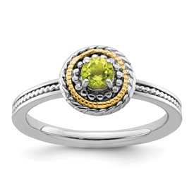 Stackable Expressions Sterling Silver and 14k Peridot Ring