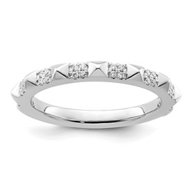 14K White Gold Stackable Expression Diamond Ring