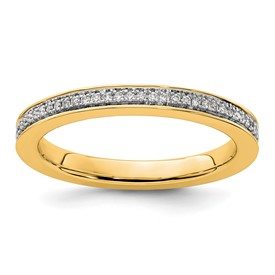 14k Stackable Expressions Diamond Ring