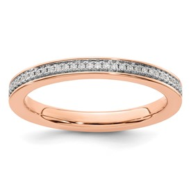 14K Rose Gold Stackable Expression Diamond Ring