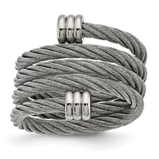 Chisel Stainless Steel Adjustable Wrap Ring