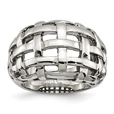 Chisel Stainless Steel Ladies Ring