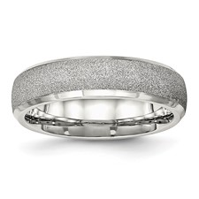 Stainless Steel Polished Laser Cut Ring
