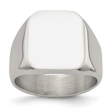 Stainless Steel Polished Signet Ring