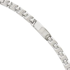 Chisel Stainless Steel Polished ID Plate 9 inch Bracelet