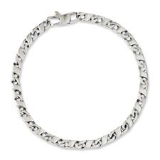 Chisel Stainless Steel Polished Oval Links 7.75 inch Bracelet