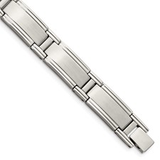 Chisel Stainless Steel Brushed and Polished Bracelet