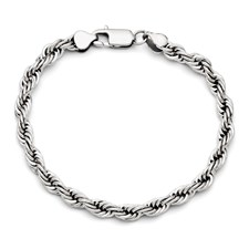 Chisel 6mm Stainless Steel Polished Rope Bracelet