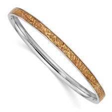Stainless Steel Yellow Enameled Bangle
