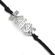 Chisel Stainless Steel CZ Kiss with 1.75 extension Bracelet