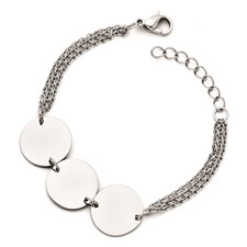 Chisel Stainless Steel Polished Circle Bracelet with 1 inch extension