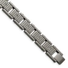 Stainless Steel Brushed w/CZ Bracelet