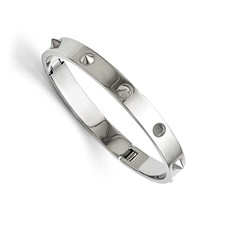 Stainless Steel Polished with Spikes Bracelet