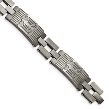 Stainless Steel Antiqued Polished and Brushed Bracelet